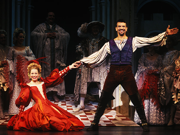 Marin Mazzie, Kiss Me Kate   Two divorced theater stars (portrayed by Marin Mazzie and Brian Stokes Mitchell in the 1999 revival, pictured) reunite to mount a musical adaptation of Shakespeare's…