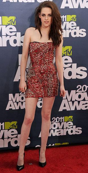 Kristen Stewart | Between her auburn hair and rocker-chic Balmain mini, it looked like the camera-shy actress finally hit her stride. A-