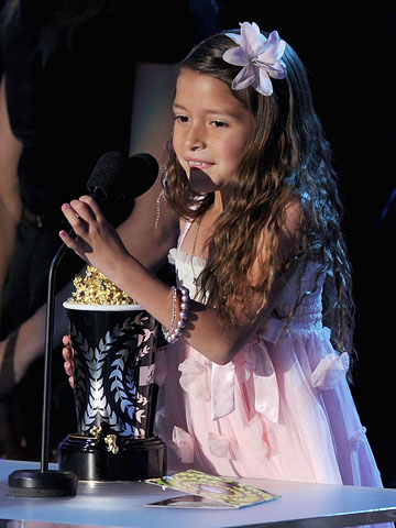 MTV Movie Awards 2011 | Seven-year-old Best Line from a Movie winner Alexis Nicole Sanchez, who started off her speech by saying, ''This is so cool!''