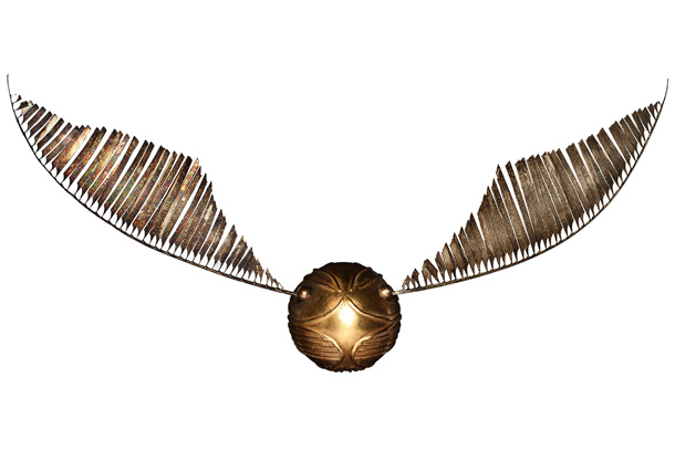 Harry Potter | In the films, a Golden Snitch can easily sprout wings and fly away from Quidditch players, but the real-life version is much less mobile. Which…