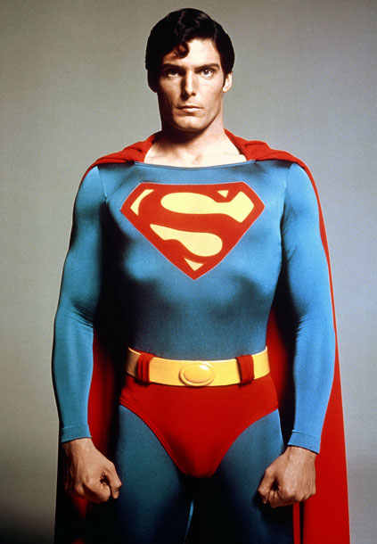 Superman, Christopher Reeve | In the '70s, superhero outfits didn't come with Kevlar or prosthetic six-packs. That's all man, baby. Mr. Reeve, we salute you.