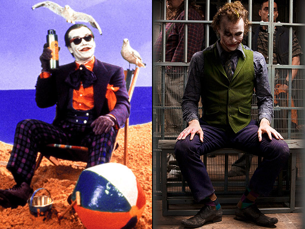 Joker circa Batman vs. Joker circa The Dark Knight