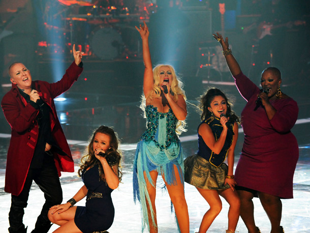 Every member of Xtina's posse had a moment to shine during this electrifying group number — to say nothing of Christina herself, whose note-perfect performance…