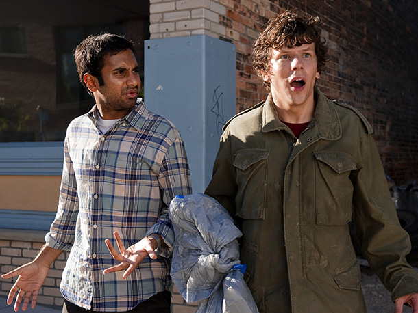 In this heist movie with a twist, Nick ( Jesse Eisenberg ), an unsuspecting pizza-delivery guy, gets a bomb strapped to him and is forced…
