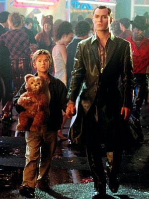 A.I., Haley Joel Osment, ... | 10. GIGOLO JOE FROM A.I. Artificial Intelligence (2001) PLAYED BY Jude Law PROGRAMMING Humanoid hustler Joe accompanies young ''mecha'' David (Haley Joel Osment, above left)…