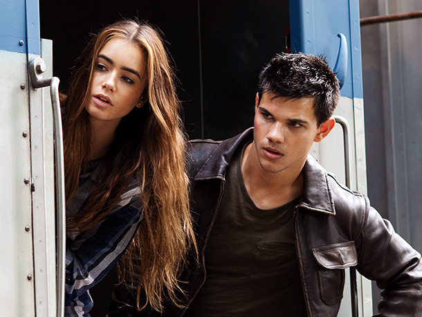 ''It's a movie for everyone,'' promises Taylor Lautner (pictured, with Lily Collins ) of this thriller, in which he plays a high school senior who…