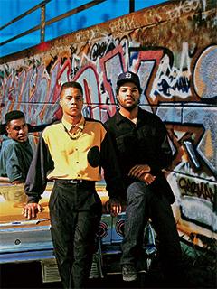 Cuba Gooding Jr., Morris Chestnut, ... | AMIDST VIOLENCE Morris Chestnut, Cuba Gooding Jr., and Ice Cube in Boyz N the Hood