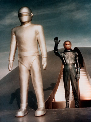 The Day the Earth Stood Still | 9. GORT FROM The Day the Earth Stood Still (1951) PLAYED BY Lock Martin, who was the doorman at the landmark Grauman's Theater in Hollywood…