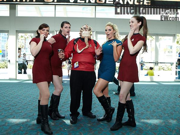 Star Trek characters with Alien Face-hugger