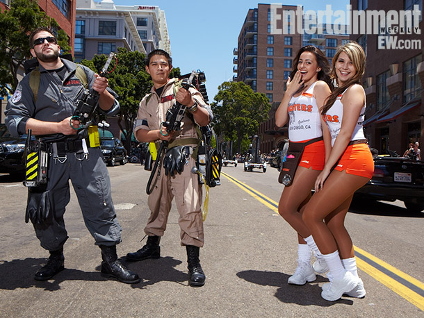 Ghost Busters and Hooter girls costumes