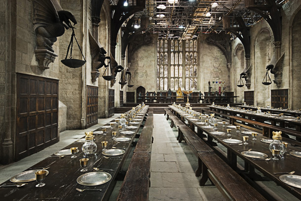 Harry Potter | The Great Hall was one of the first major set pieces the filmmakers had to construct, and it was one that would have to last…