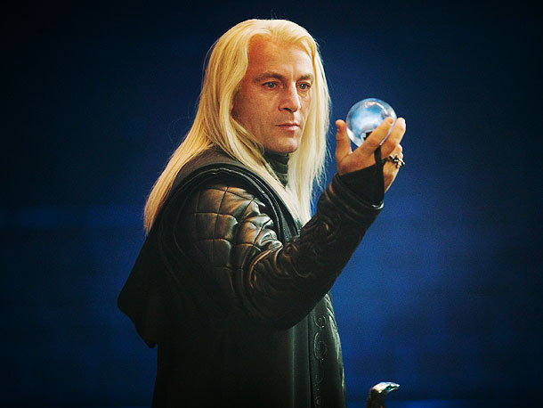 Harry Potter and the Order of the Phoenix, Jason Isaacs   ''My wigs started off far more Pamela Anderson and ended up much more Lady Gaga. But I didn't get to keep any of them! I…