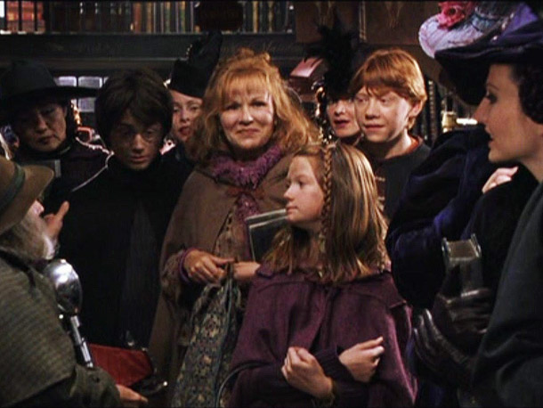 Harry Potter and the Chamber of Secrets   ''Oh, I loved my [onscreen] children! I loved them! The fourth film, I wasn't in it, and I got postcard from them saying, 'Come back,…