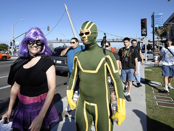 Kick-Ass and Hit-Girl on a mission