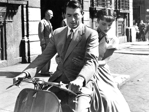 Roman Holiday | Finding love on vacation! In Europe! On Vespas! Equation so far: ( To Catch A Thief + Roman Holiday )