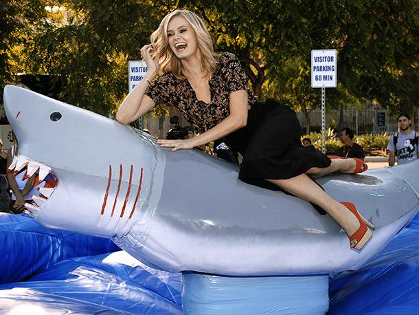 Actress Sara Paxton at Shark Night 3D event