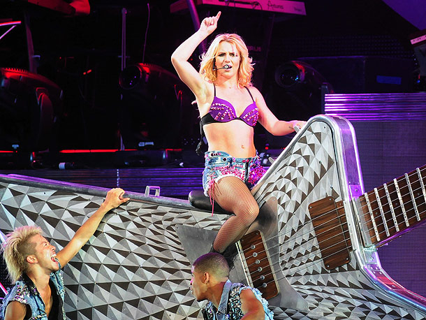 Britney Spears   A giant guitar isn't Britney Spears ' only ride — her stage show also includes a Pepto-pink convertible. (Now through Aug. 8)