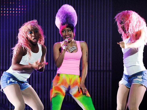 Nicki Minaj   Spaceships! Male alter egos! Wigs galore! It?s all in a night's work for Nicki Minaj . (Opening for Britney Spears now through Aug. 8)