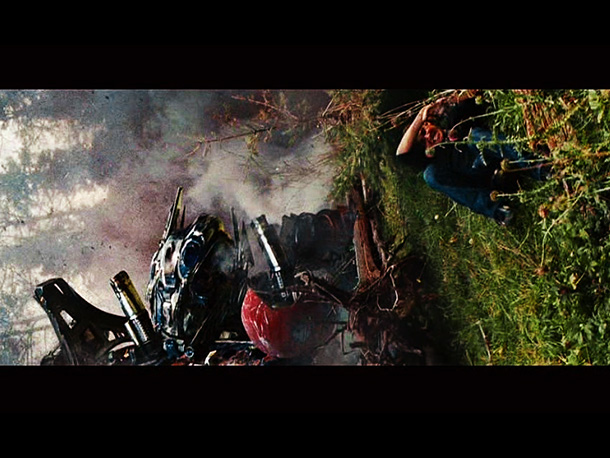 Transformers: Revenge of the Fallen | While definitely not as affecting as when the big guy bites it in the superior animated Transformers movie, Bay's still got enough of the touch…
