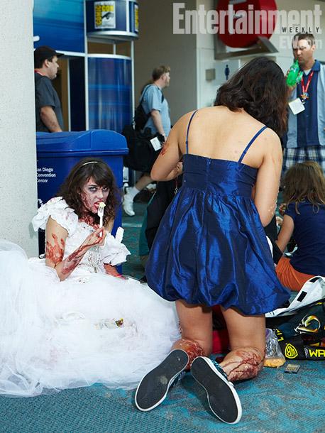 Zombie eating cake