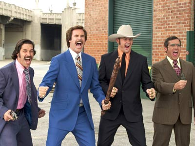 Anchorman: The Legend of Ron Burgundy, David Koechner, ... | Original Plot: A mustachioed 1970's San Diego news anchor loses his mojo when an ambitious blond cracks television news' glass ceiling and wins his job.…