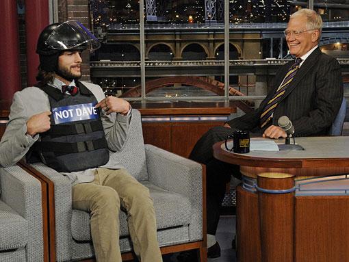 Ashton Kutcher Letterman