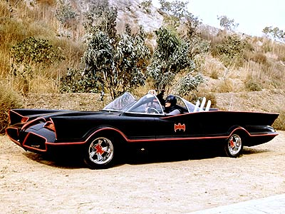 Batman | Because it has ''atomic batteries'' and ''turbines.'' Because it has fire — FIRE! — shooting out of the rear. Because it's the sexiest superhero car…