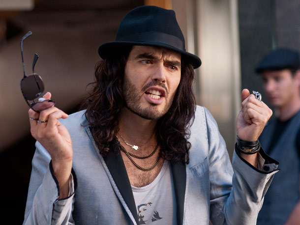 Russell Brand, Get Him to the Greek | Well, he wouldn't be a true crazy rock star without that look, would he?