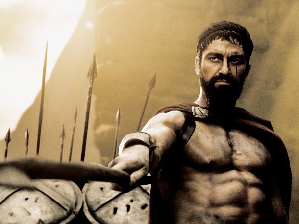 Gerard Butler, 300 | This Spartan's robust beard was anything but sparse.