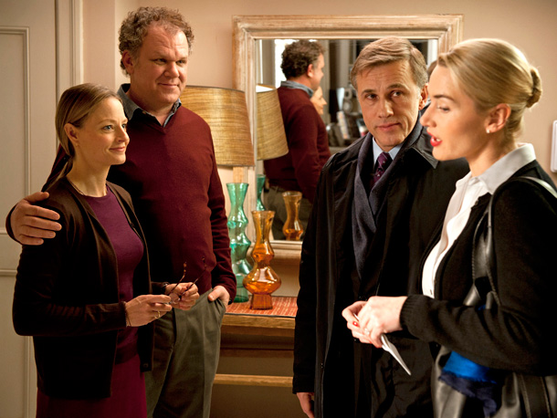 Director Roman Polanski depicts an upscale couple (Kate Winslet and Christoph Waltz) meeting with a more middle-class Brooklyn duo (John C. Reilly and Jodie Foster)…