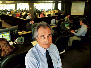 Chasing Madoff | CHASING MADOFF Bernard Madoff, chairman of Bernard L. Madoff Investment Securities, on the trading floor in New York, on Dec. 30, 1999