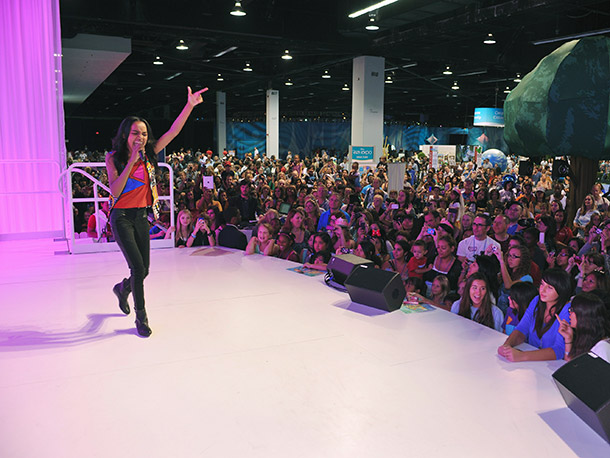China Anne McClain (A.N.T. Farm) belted it out.