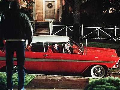If the Devil had a car, it would be this cherry red 1958 Plymouth Fury, which is capable of both restoring itself to mint condition…