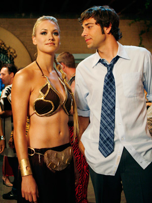 We've always known that Chuck (Zachary Levi) has eyes only for Sarah, but when she dressed up as Slave Leia for him at a Halloween…