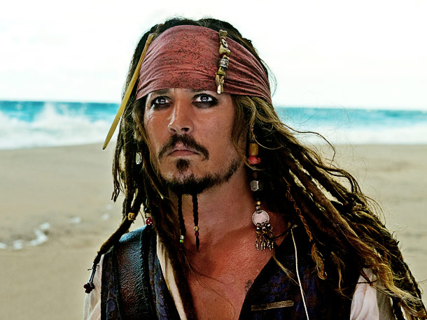 Johnny Depp, Pirates of the Caribbean: The Curse of the Black Pearl | The beard braids may not be for everybody but no one imagine a clean cut Captain Jack.
