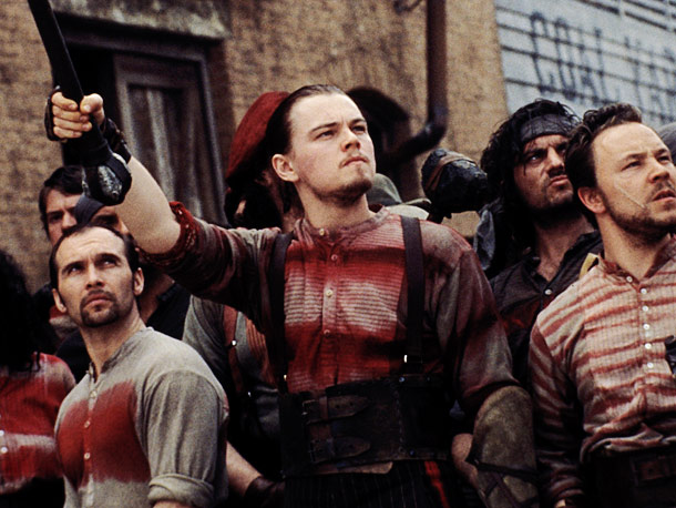 Leonardo DiCaprio, Gangs of New York | That baby face needed the scruff to hang with these ruffians.