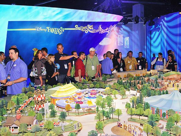 Walt Disney World's expanded Magic Kingdom model was on display.
