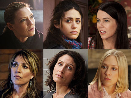 To vote for the Best Actress in a Drama, head to our Facebook page . Anna Torv, Fringe Emmy Rossum, Shameless Lauren Graham, Parenthood Katey…