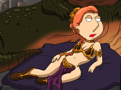 The show's Star Wars spoof would not have been complete if it hadn't gotten Lois' Leia doing her sultry best.