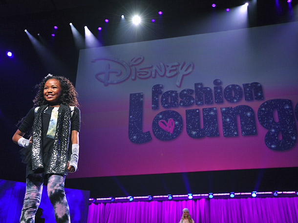 Tweens got in on the action at a fashion show.