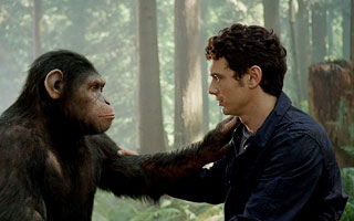 ME CAESAR, YOU LAME The scene-stealing breakout star of Rise of the Planet of the Apes consoles his fleshy human pal
