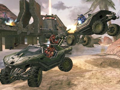Halo 2 | How better to ferry videogame marines into harm's way than with this open-air military utility vehicle? You could roll it, jump it, flip it, or…