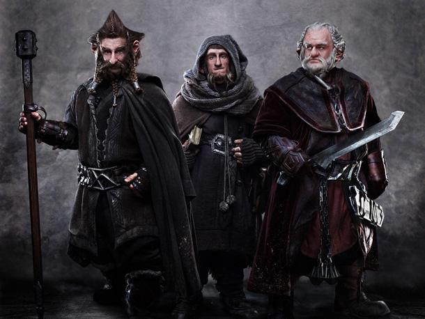 JED BROPHY as Nori, ADAM BROWN as Ori, and MARK HADLOW as Dori