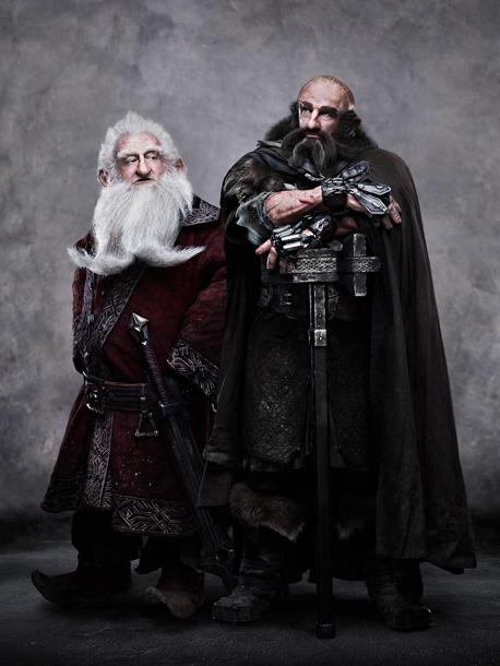 KEN STOTT as Balin and GRAHAM McTAVISH as Dwalin