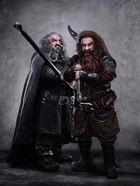 JOHN CALLEN as Oin and PETER HAMBLETON as Gloin
