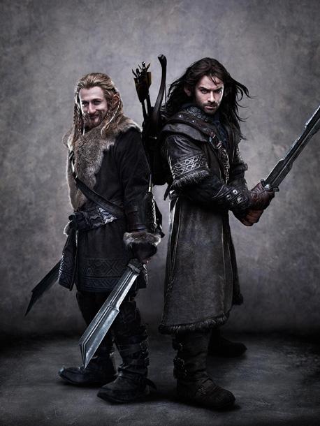 DEAN O'GORMAN as Fili and AIDAN TURNER as Kili