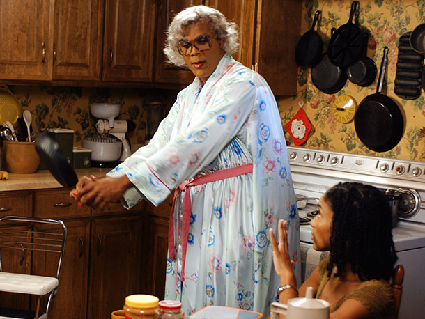 Keeping in mind the look that Perry was going for was kickass old black woman, not pretty old black woman, we have to say well…