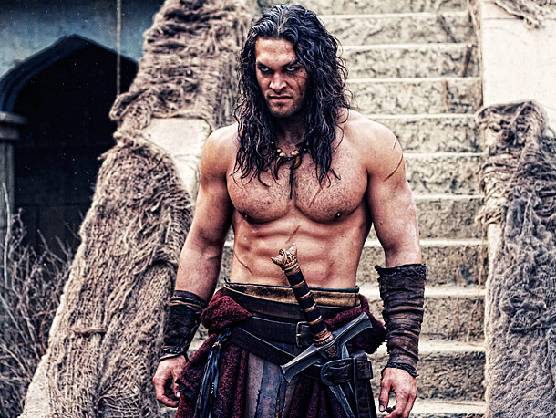Jason Momoa, Conan the Barbarian | We kind of knew this from his turns on Game of Thrones and Stargate: Atlantis , but Momoa can pull off the dirty scruffy look…