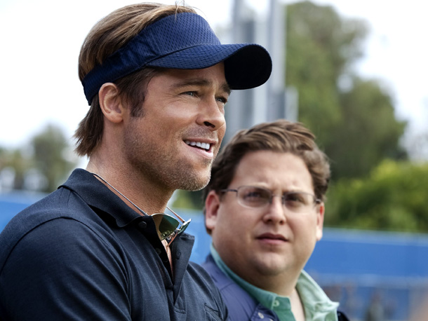 Starring Brad Pitt, Jonah Hill, Robin Wright, and Philip Seymour Hoffman ?Directed by Bennett Miller, Not yet rated ''It's not a baseball movie,'' says Moneyball…