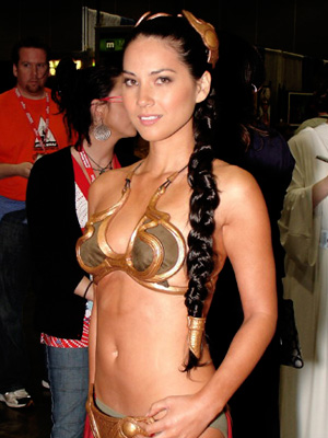 The G4 network host/goddess fulfilled her audience's fantasies when she donned the bikini getup.